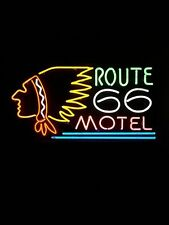 """New Route 66 Motel Neon Light Sign 24""""x20"""""""