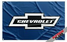 Chevrolet Flag Banner (3x5 ft) Chevy American Wall Car Garage Blue