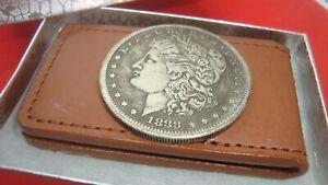 1888 Morgan Dollar Coin Token Not Silver Souvenir Buchanan's Magnetic Money Clip