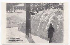 Winter Scene Union Avenue MONTREAL Quebec Canada 1907-15 Private Postcard