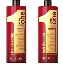 Revlon Uniq One Original Conditioning Hair & Scalp Shampoo 1000ml pack of 2