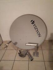 Satellitenschüssel incl. Sat Wandhalter, single LNB und Motor