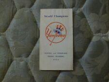 1954 NEW YORK YANKEES MEDIA GUIDE Press Book ROSTER 1953 WORLD CHAMP! Program AD