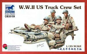 Bronco Model kit CB35159 1/35 WWII US Truck Crew Set (4 figures) - USA Shipping