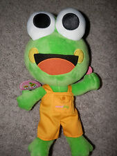 "Sweet Frog Yogurt boy Frog Plush 13"" 2011 nwt"