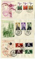 3 Sobres primer dia sellos España Congreso Internacional de Filatelia Barcelona
