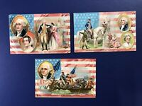 3 Nice G. Washington BD. Tuck & Son Publ Series #124.  For Collectors w Value