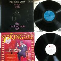 NAT KING COLE - 20 Greatest Hits + Nat King Cole Trio - Vinyl LP Albums