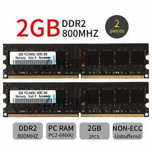 4GB 2x 2GB 800MHz DDR2 PC2-6400U 240Pin CL6  DIMM intel Desktop Memory SDRAM BT