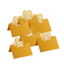 VALENTINE WEDDING PARTY PEARLESCENT LASER CUT LOVE HEARTS PLACE CARDS TABLE NAME