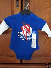 NEW Okie Dokie Bodysuit Football Blue NB 5-8 lbs Boy FREE SHIP