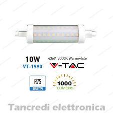 Lampadina led V-TAC 10W = 60W R7S bianco caldo 3000K VT-1990 SMD tubolare faro