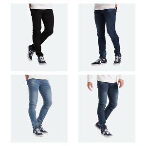 Mens Jeans Flex Denim Pants -Stretch Skinny Slim Fit Jeans