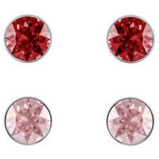 Swarovski Crystal Madyson Pierced Earring Set, Red, Rose Gold Plating 5414601