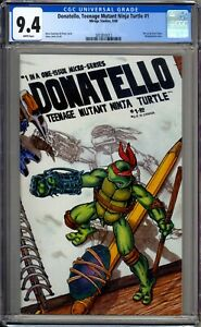 Donatello 1 CGC Graded 9.4 NM White Pages Mirage Studios 1986