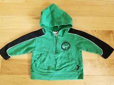 NIKE BABY 12 MONTHS HOODED ZIP BASKETBALL SWEATSHIRT GREEN BLACK PRE-OWNED