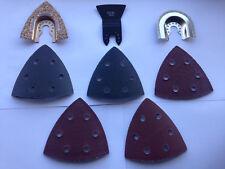 Triangular Sanding Disc Multi Purpose 13 piece Tool Accessories Renovation NEW