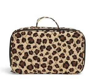 NWT Vera Bradley Blush and Brush Makeup Case LEOPARD PATTERN Cosmetic Bag Travel