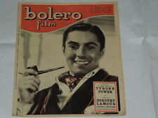 BOLERO FILM DEL 21 MARZO 1948-TYRONE POWER-MARGA JOYCE, IRENE D'ASFREA, IRMA SAI