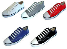 New Men's Canvas Sneakers Classic Lace Up Fashion Casual Shoes Colors, Size:7-13