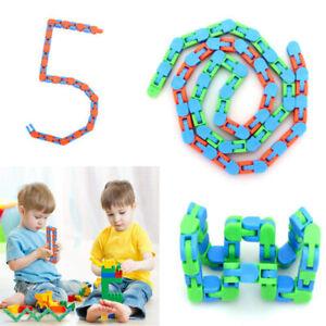 Anxiety Stress Relief Wacky Tracks Snake ADHD Fidget Sensory ERIC Fidget Toy