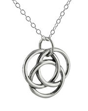 Infinite Circles Love Knot Necklace - 925 Sterling Silver - Infinity Forever NEW