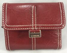 Liz Claiborne Red Faux Leather Small Wallet