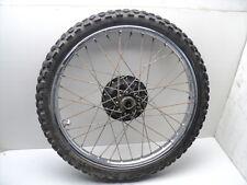 #4063 Yamaha XT200 XT 200 Chrome Front Wheel & Tire