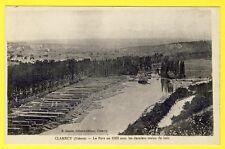 cpa Bourgogne CLAMECY (Nièvre) Le PORT en 1869 Dernier TRAINS de BOIS Flottage