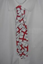 Boys Red and White England flags Tie - Pre-tied elasticated