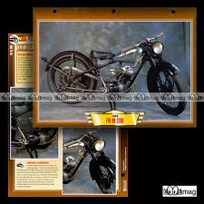#137.07 Fiche Moto FN FABRIQUE NATIONALE M 200 1933-1938 Classic Motorcycle