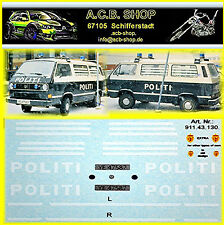 VW T3 Politi Norway 1990 Decal Abziebilder 1:87 Police Cars of The World