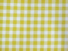 YELLOW GINGHAM CHECK KITCHEN PATIO DINE BBQ OILCLOTH VINYL TABLECLOTH 48x84 NEW