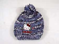 CAPPELLO BAMBINA HELLO KITTY IN LANA - BERRETTO CON PON PON IDEA REGALO