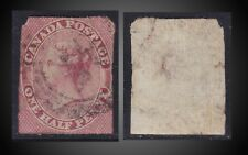 1857 QUEEN VICTORIA 1/2 P. VERTICAL RIBBED PAPER RECONSTRUCTION USED SCT. 8b