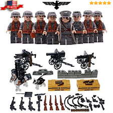 German Squad WW2 custom soldiers 8 figures set, weapons compatible with LEGO