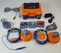 Vtech VSmile TV Learning System Console 2 Controllers w/Joystick, 3 Games Tested