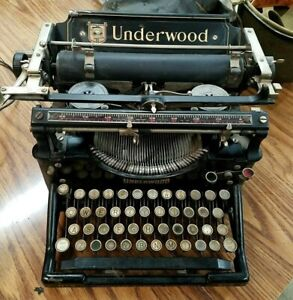 Antique 1900s Black Underwood Standard No.5 Typewriter- Working Condition