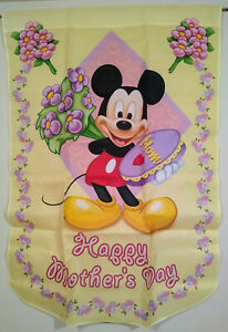 Mickey Mouse flag Disney Hamilton Collection Happy Mother's Day 28x40 one-sided