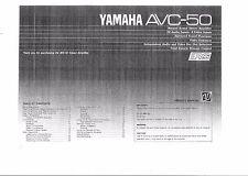 Yamaha  Bedienungsanleitung user manual owners manual  für AVC- 50