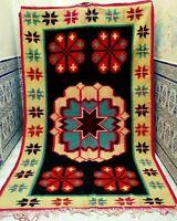 "Moroccan Handmade Kilim Rug Tribal Vintage Carpet Berber Rug azilal 9'8"" x 5'7"""