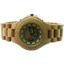 Luxury Maple Wood Case Quartz Wristwatch Wood Band with Date Men's dress watch