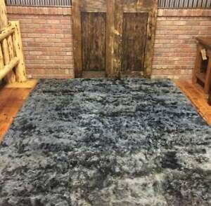 Dark gray alpaca fur rug, living room rugs Luxurious alpaca Peruvian,custom rugs