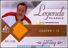 UD SP GAME USED SPGU 2007 DALE HAWERCHUK JETS CLASSIC LEGENDS GAME JERSEY /100