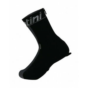 Pixelated Reflective Windproof Shoe Covers - Black - Made in Italy by Santini