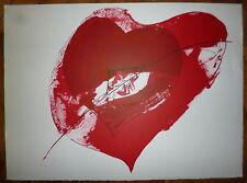 Paul Rebeyrolle Lithographie originale le coeur art abstrait abstraction