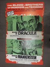 Rare Huge Vintage Frankenstein Dracula Movie Monster Theatre Display Hammer Film