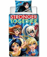 DC SUPER HERO GIRLS SINGLE DUVET COVER SET OFFICIAL WONDER WOMAN HARLEY QUINN