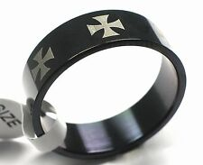 Edelstahl Ring Fingerring mit Eisernes Kreuz Rest