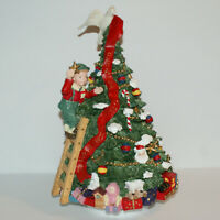 Musical Christmas Tree Tabletop Decoration Plays We Wish You a Merry Christmas